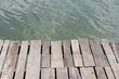 old wood pier