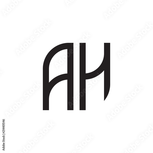 Two Letter Ah Monogram Logo Buy This Stock Vector And Explore Similar Vectors At Adobe Stock Adobe Stock