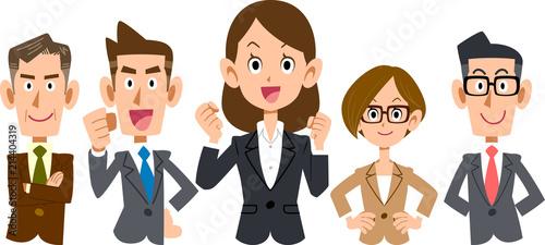 Photo 女性を中心としたビジネスのチーム_上半身