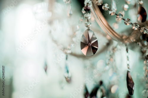Fotografie, Obraz  Crystal chandelier close-up