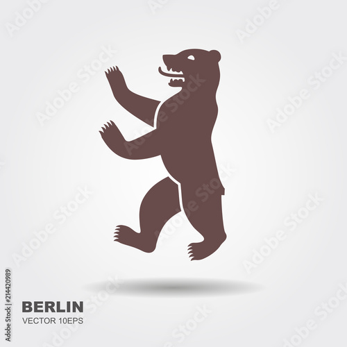 Fototapeta premium Symbol wektor ilustracja Berlin, Niemcy Niedźwiedź ikona