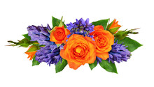Orange Roses And Hyacinth Flow...