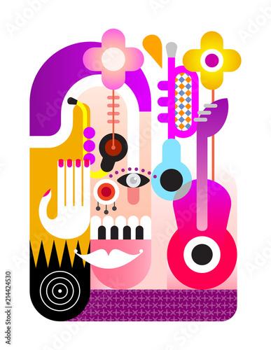 Foto auf Leinwand Abstractie Art Music Festival vector design