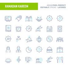 Ramadan Minimal Vector Icon Set (EPS 10)