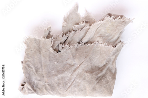 1b532d93c0fcd Dirty rag isolated on white background - Buy this stock photo and ...