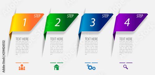 Fotografia Infographics vector design for marketing or financial business report, diagram a