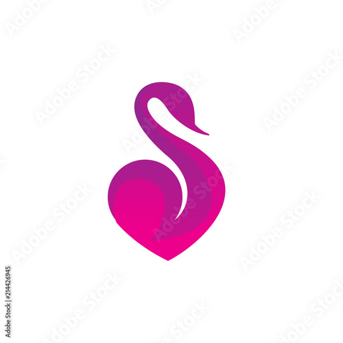 swan logo flame gradient