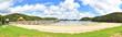Sanstrand mit Gras Panorama auf Insel Urupukapuka