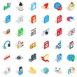 Web spam icons set. isometric style of 36 web spam vector icons for web isolated on white background