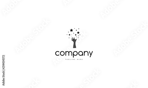 Dream vector black logo - fototapety na wymiar