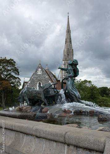 Photo  Copenhagen , Gefion Fountain..