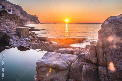 Fotografia Sunrise in Begur, Costa Brava, Spain