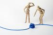 Leinwanddruck Bild - Knoten, Störung, Konflikt