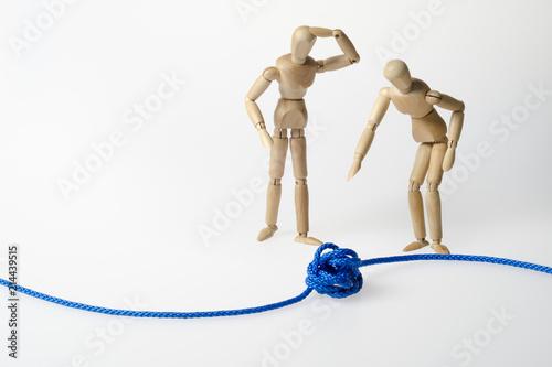 Foto  Knoten, Störung, Konflikt