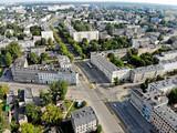 Fototapeta Miasto - Łódź, Polska- widok na Bałuty