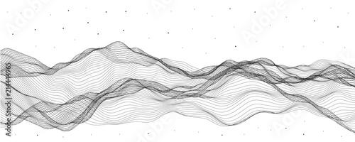 Fotografia  Vector illustration, linear deformers. Abstract stream waves.