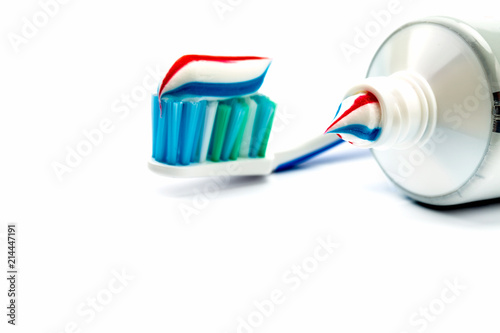 Fotografía  Toothbrush and toothpaste