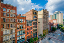 View Of Buildings Along Liberty Avenue In Downtown Pittsburgh, Pennsylvania
