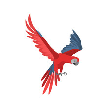 Flying Parrot Macaw High Quality Icon