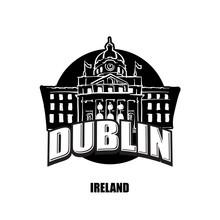 Dublin, Ireland, Black And White Logo