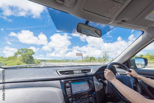 運転 Fotobehang