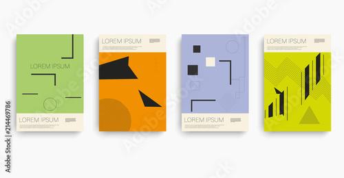 Papel de parede Bauhaus in bauhaus style. Bauhaus pattern. Icon set.