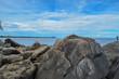 Rocky shoreline at Lake Malawi, Malawi