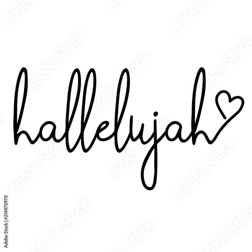 hallelujah - word with heart Poster Mural XXL