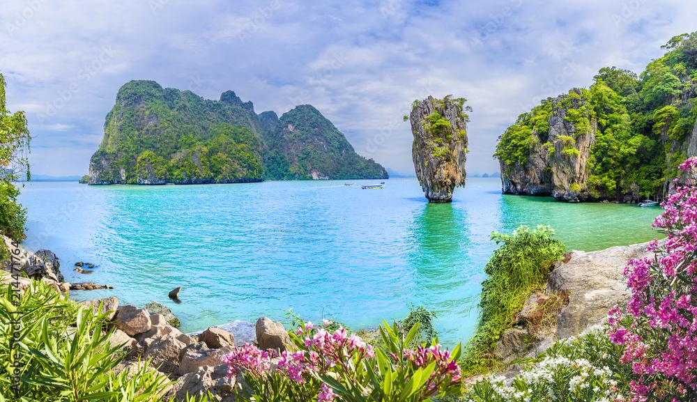 Fototapeta James Bond Island on Phang Nga bay, Thailand