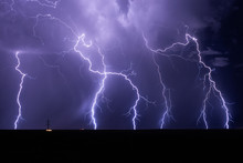 Lightning Bolts Strike From A ...