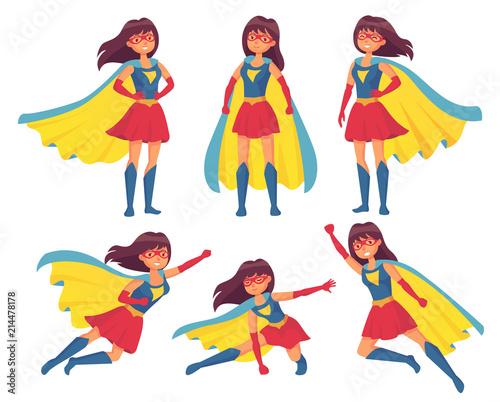 Woman superhero character Canvas Print