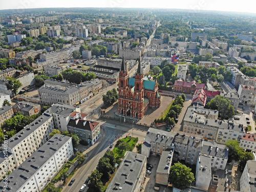 Fototapeta Łódź, Polska- widok na Plac Kościelny. obraz