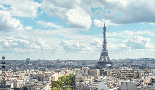 Poster Paris View on Eiffel Tower, Paris, France