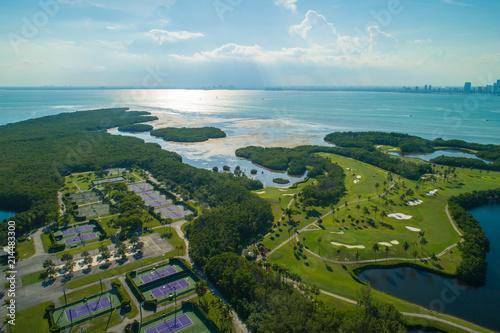 Aerial drone image Key Biscayne Florida