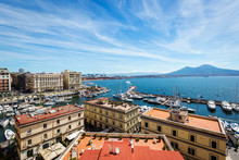 View Of The Bay And Vesuvius V...
