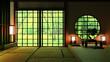 Leinwanddruck Bild Japan Room Design Japanese-style. 3D rendering