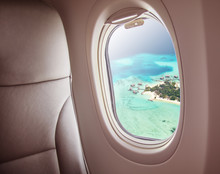 Airplane Window With Beautiful...