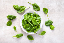 Fresh Spinach. Green Vegetable...