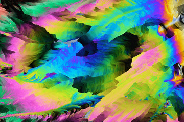 Colorful micro crystals in polarized light