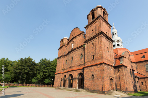 Katowice, Nikiszowiec, Historical old Church of the mining district of Silesia
