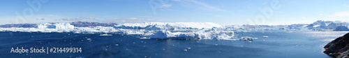 Poster Arctica Greenland. Icefjord in Ilulissat