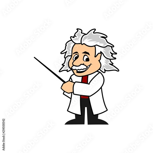 Fotomural  Cartoon Professor vector template