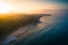 Aerial View Of Dana Point Coastline At Sunrise