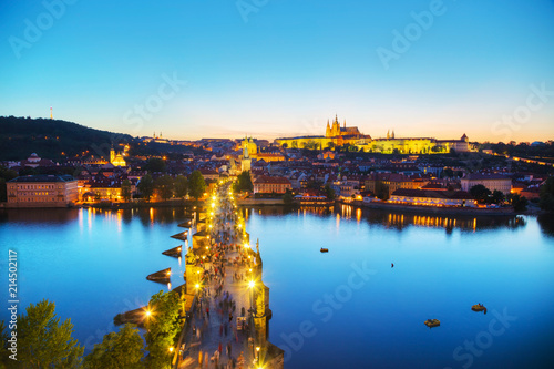 Printed kitchen splashbacks Athens Overview of Prague with St Vitus Cathedral