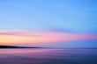 canvas print picture Pink and blue sunset at Lake Superior Duluth