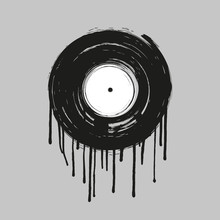 Vinyl Dripping Painting Vector