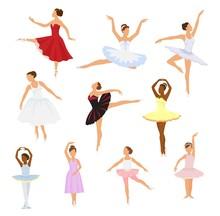 Ballet Dancer Vector Ballerina...
