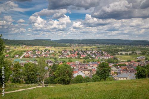 Poster Donkergrijs Chęciny City landscape panorama