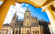 View of St. Vitus cathedral in Prague