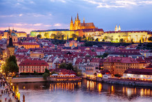 View Of Prague Castle And Old Town
